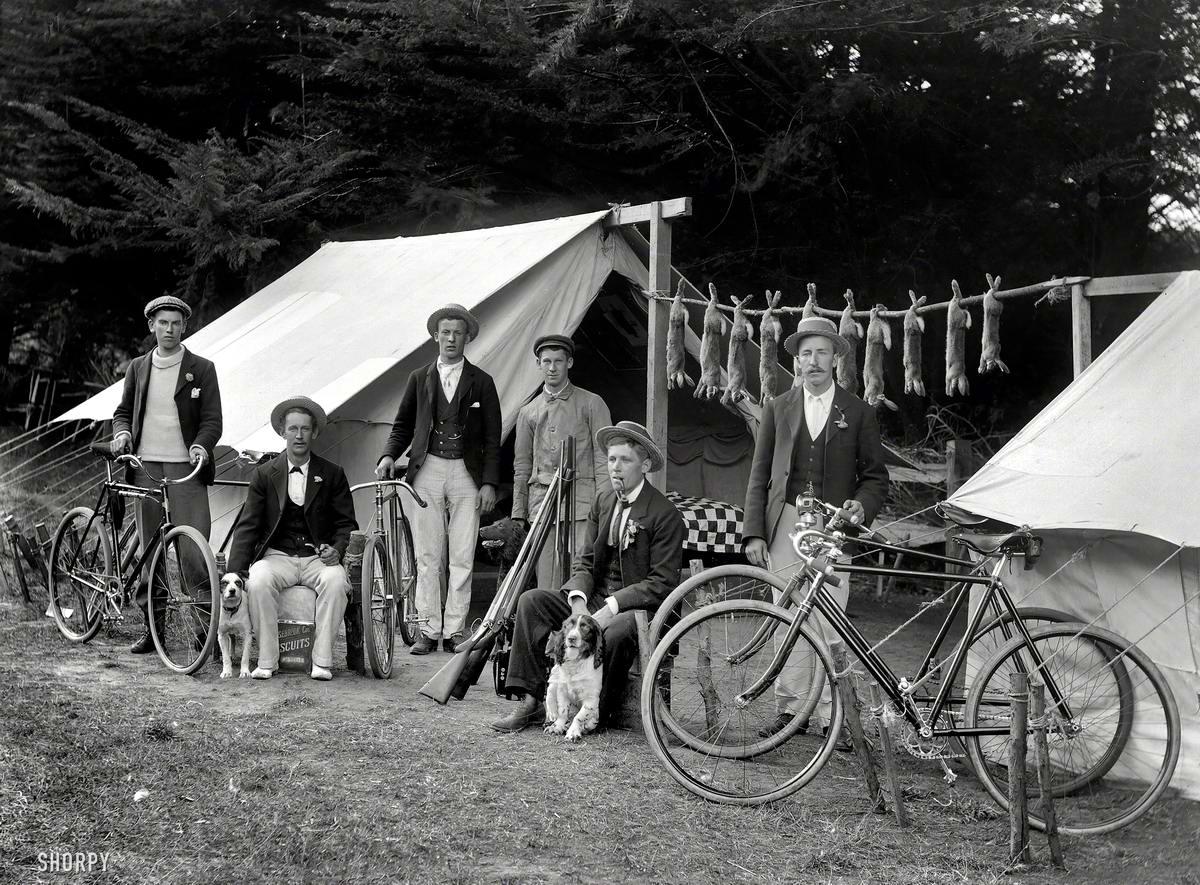 Велосипеды и велосипедисты начала 20-го века на снимках американских фотографов (0)