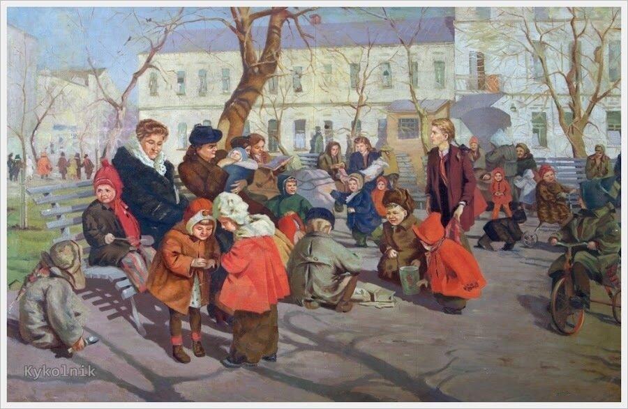 1950 Яблонская Татьяна Ниловна (Россия-Украина, 1917-2005)  «Весна» 1950.jpg