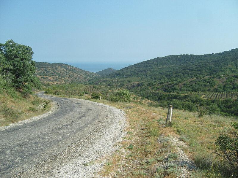 холмы по дороге в Зеленогорье