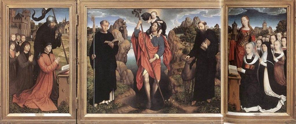 """Ханс Мемлинг. """"Триптих Вильяма Мореля"""" 1484"""