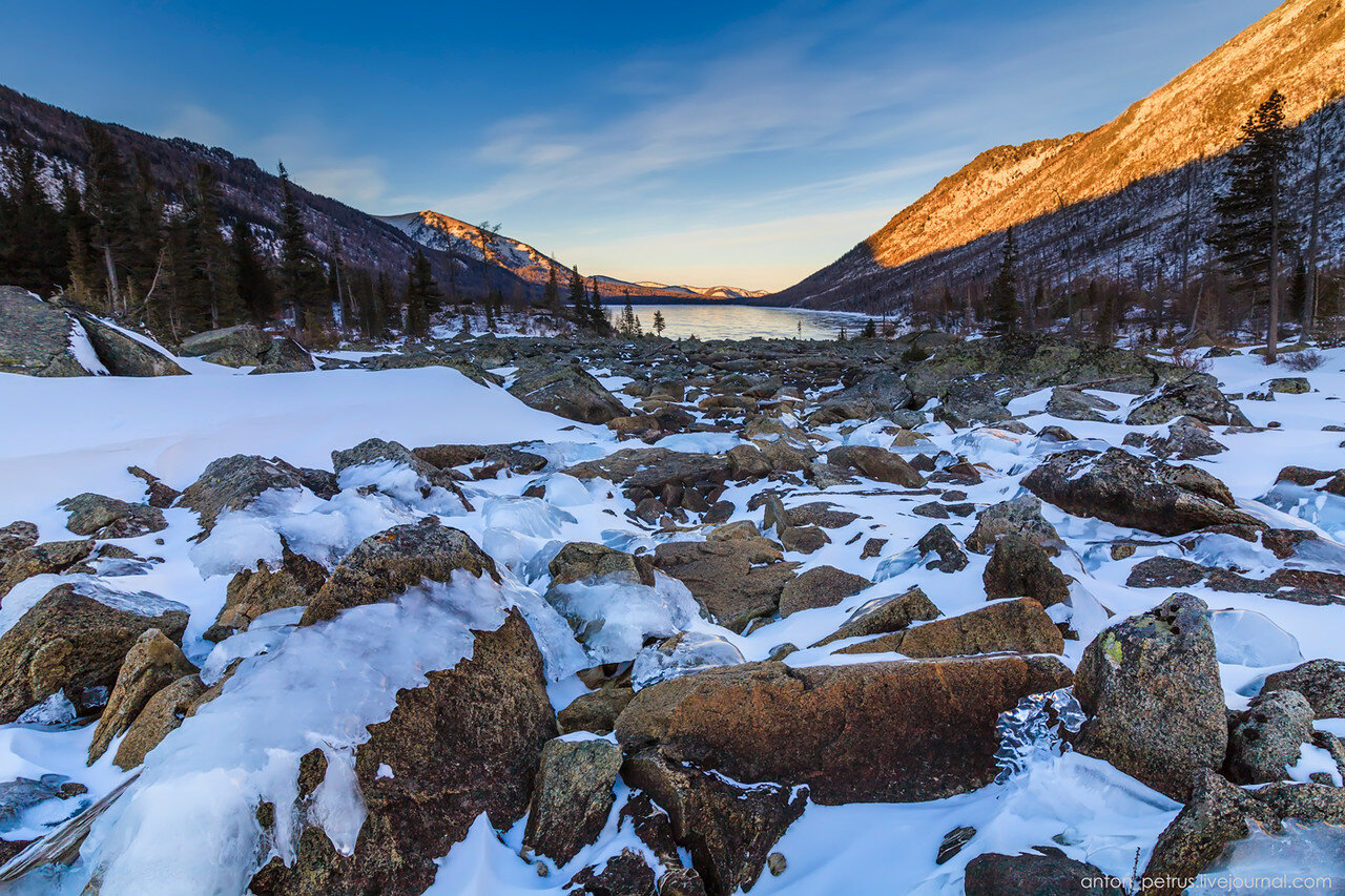 Зима на алтае. Мультинские озера