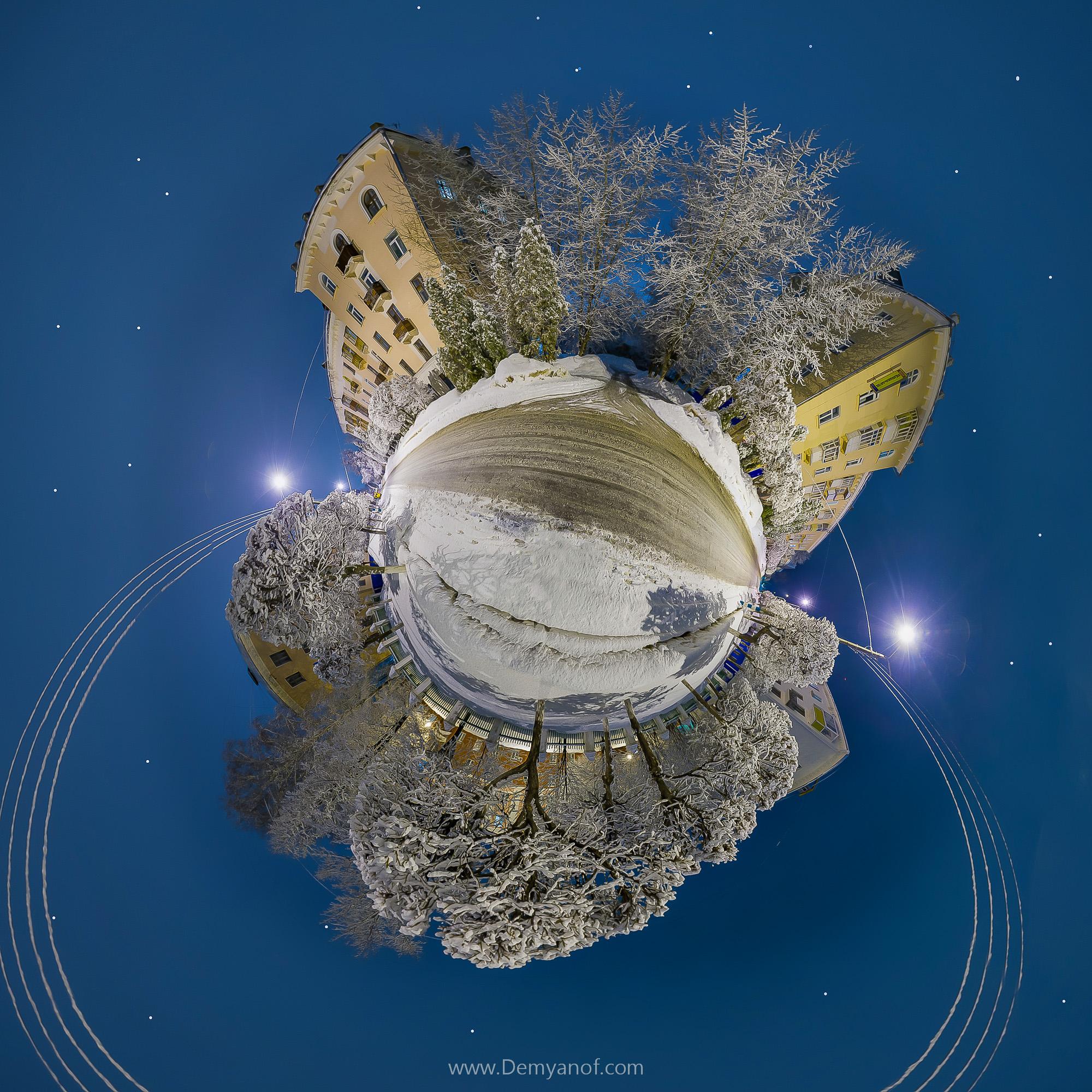 Заснеженная улица Ивана Франко Чебоксары | Виртуальный тур
