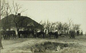 Вид одного из домов в д.Блони, где размещались русские армейские части.