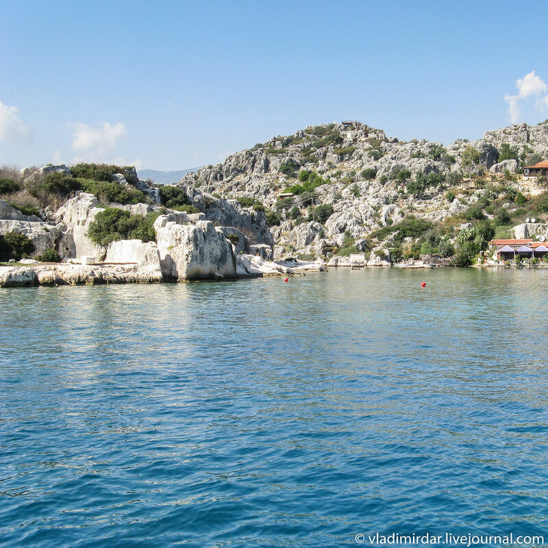 Руины древнего затонувшего города Симены