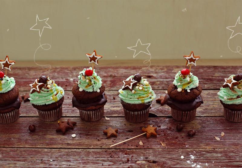 Шоколадные капкейки - пошаговый рецепт с фото #10.