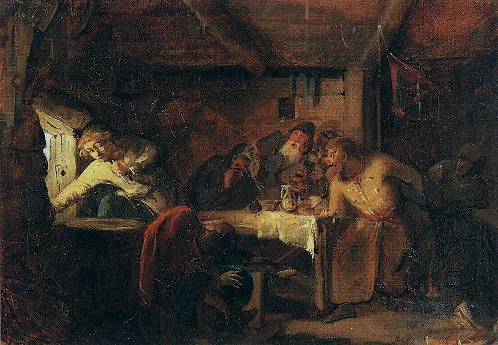 «Бегство Григория Отрепьева из корчмы на литовской границе» 1862 Г.