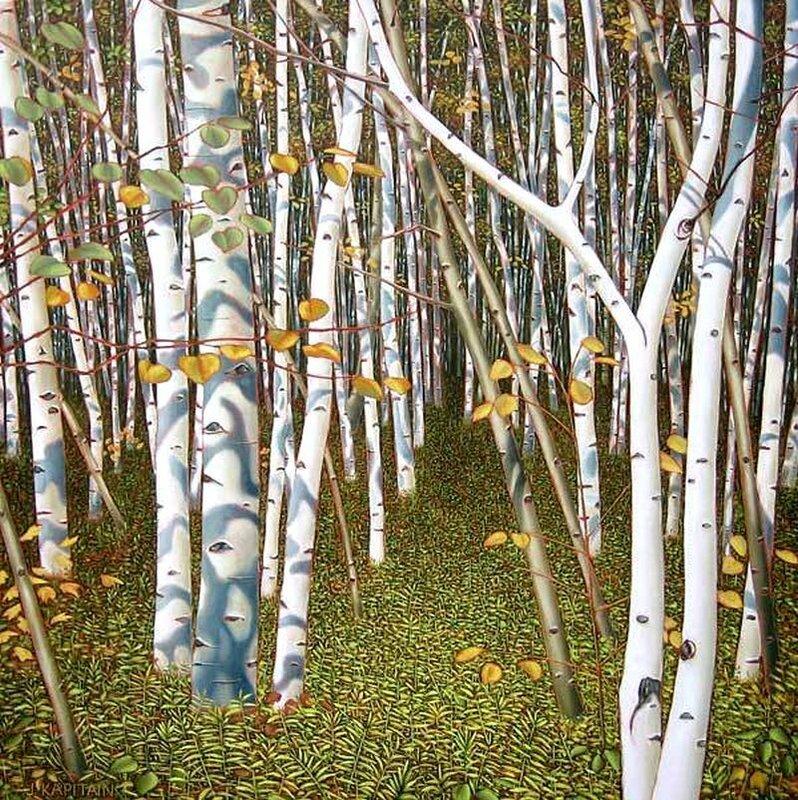 Канадский художник Jamie Kapitai. Осень  быстро заменяет краски лета