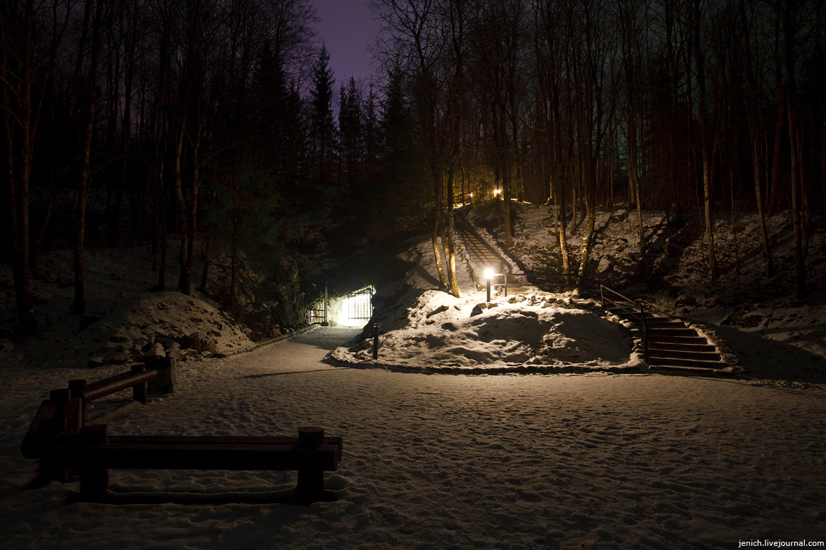 фото, фотография, Рускеала, горный парк, Куркиеки, подсветка, освещение, карьер