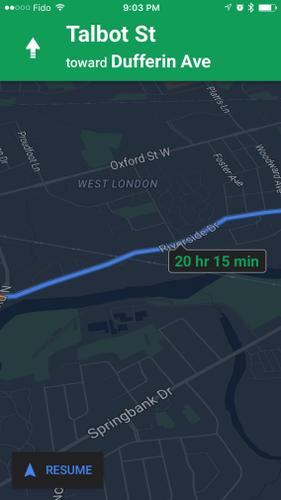 В Картах Google для iOS появился ночной режим