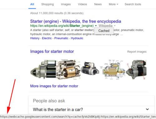 Google начал показывать сохранённые копии страниц на HTTPS