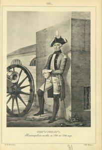 695. ОБЕР-ОФИЦЕР Канонирского полка, с 1763 по 1786 год.