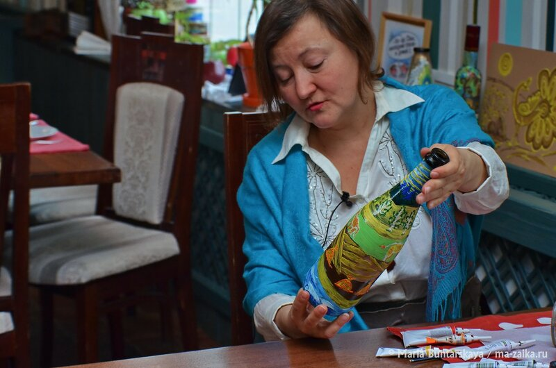 Кандидатка в книгу рекордов Гиннеса Татьяна Пелех, Саратов, ресторан 'Одесса', 19 января 2015 года