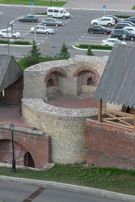 Фрагменты Северо-Восточной круглой башни, Казанский кремль