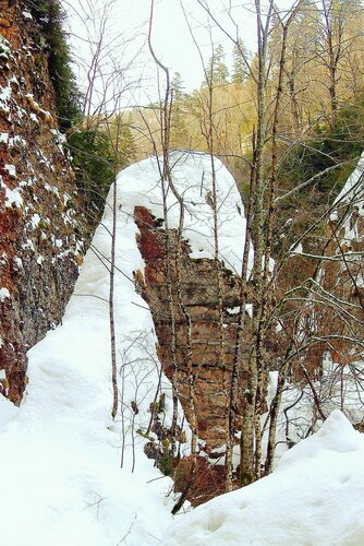 Кавказ, зима, Гуамское ущелье