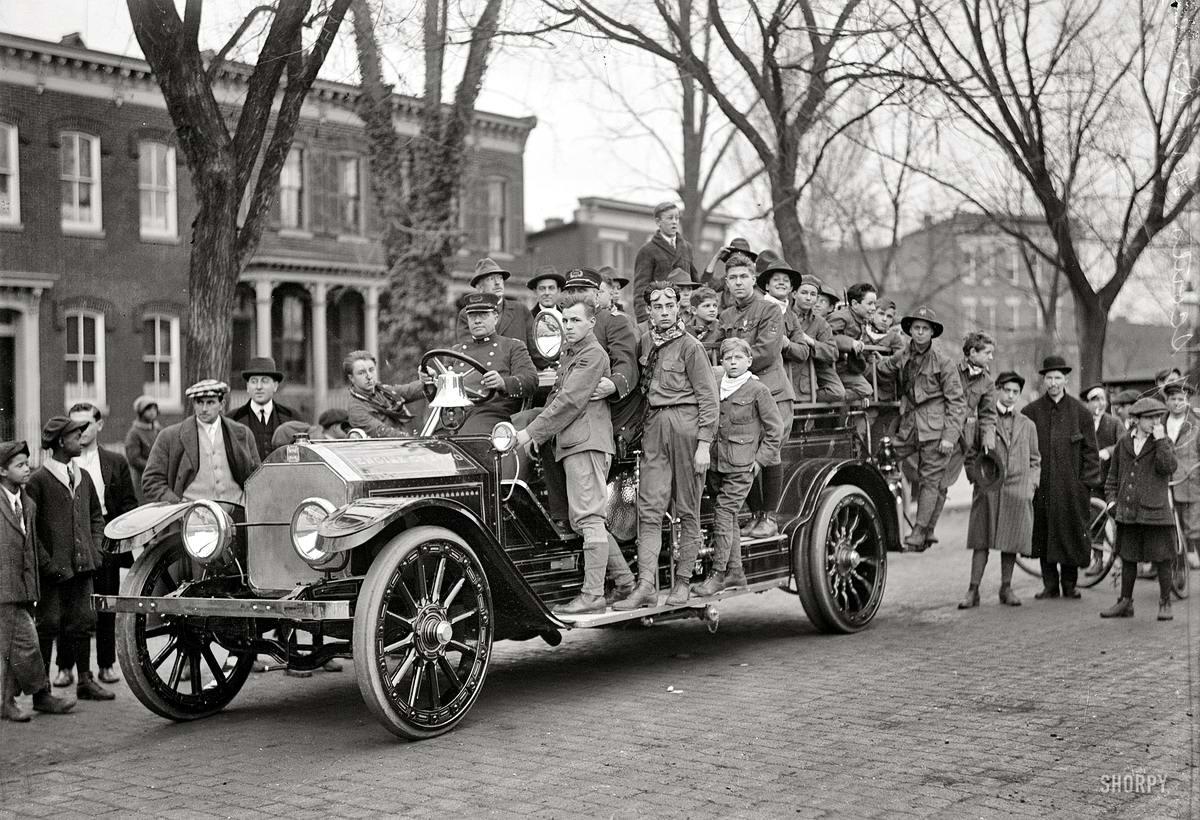 Американские бойскауты начала 20-го века на снимках фотографов (18)