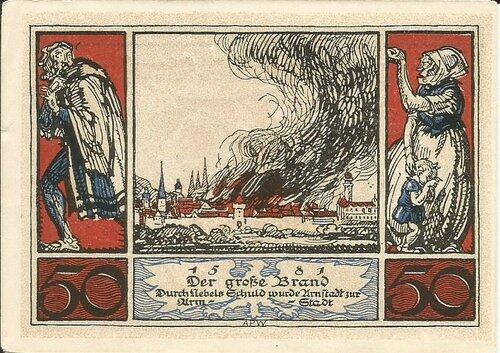 Большой пожар в Арнштадте.
