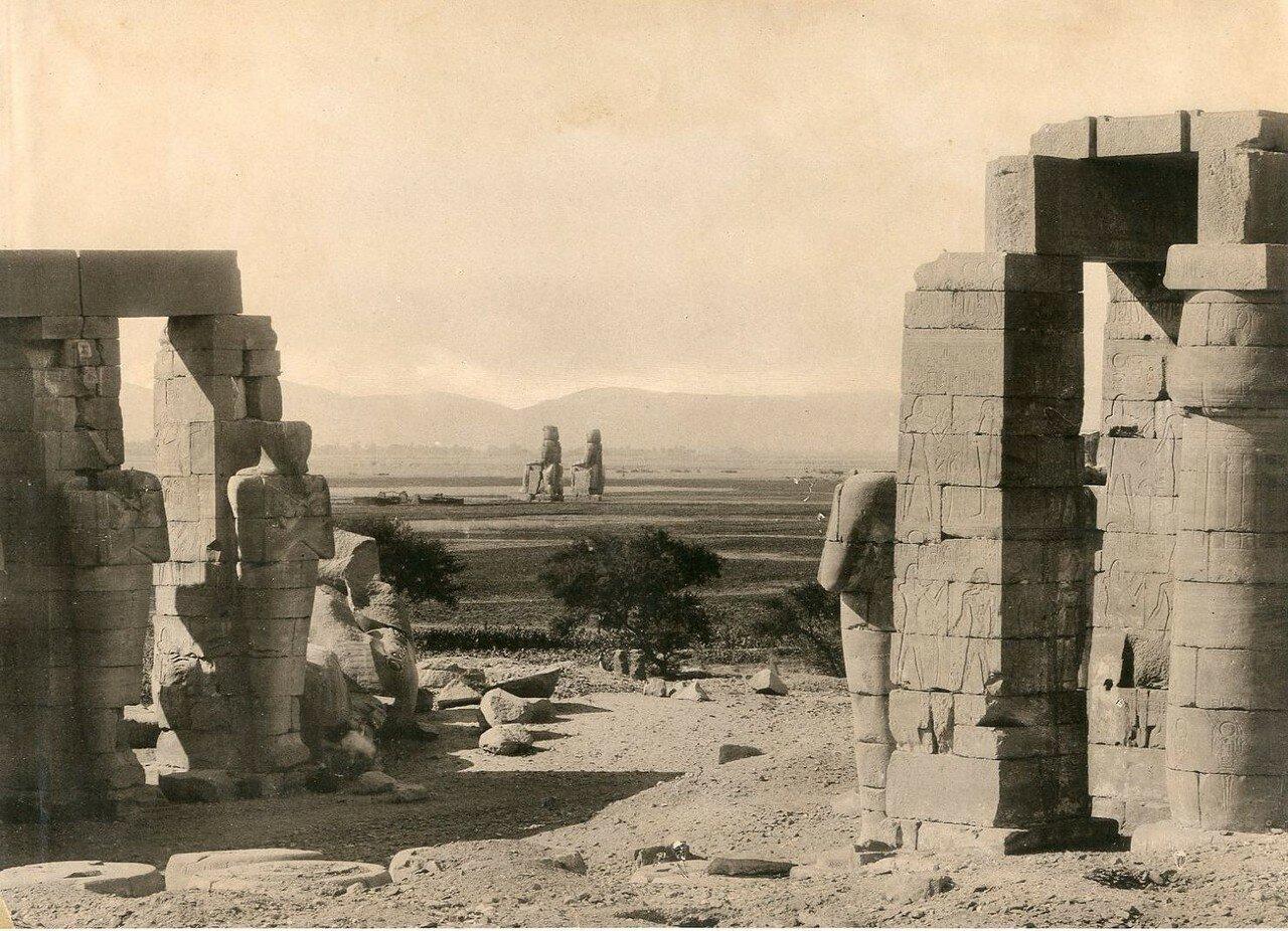 Фивы, Рамессеум и Колоссы Мемнона. 1900