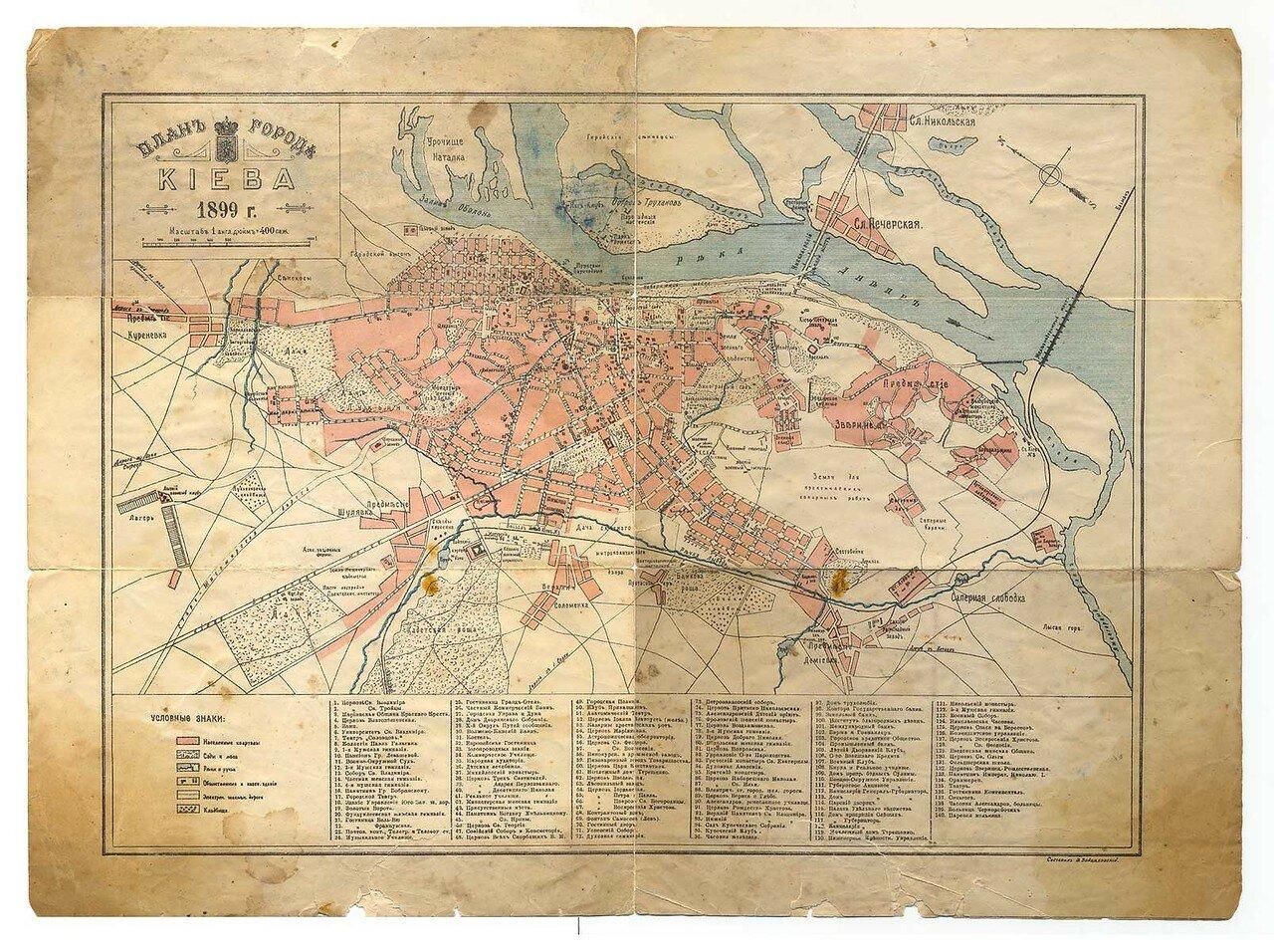 1899. План Киева