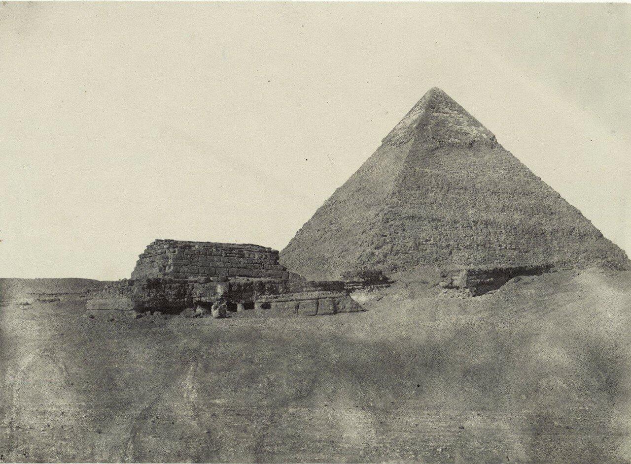 Гиза. Пирамида Хефрена. 1849