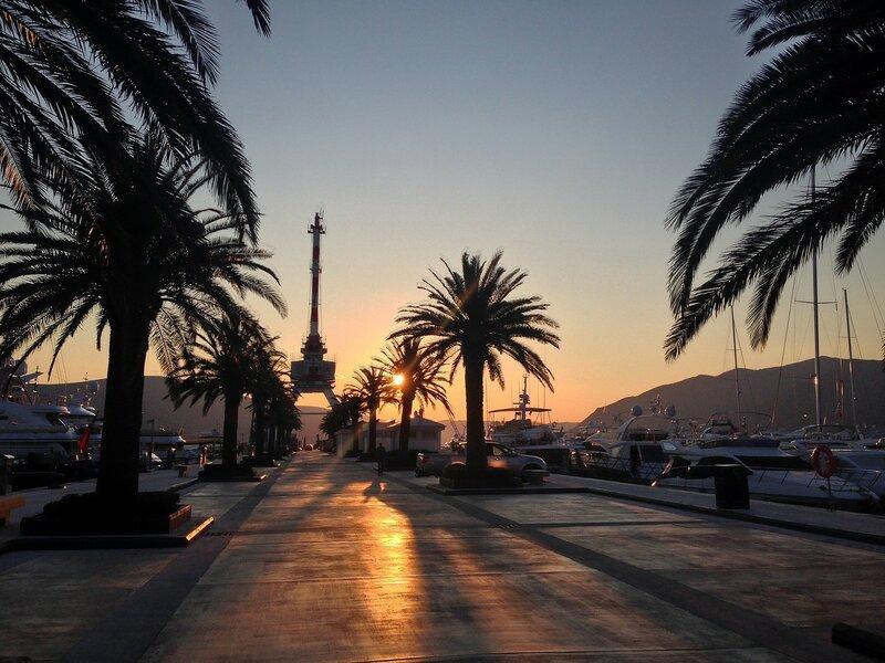 Закат в Порто Монтенегро