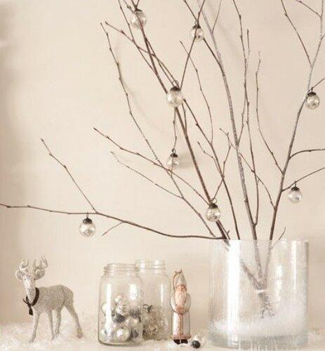 Рождественский декор в белоснежных тонах