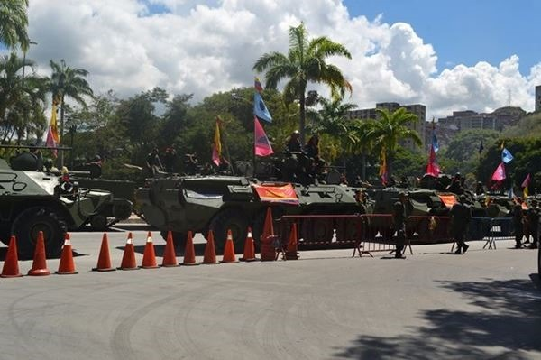 Тренировка парада к дню независимости Венесуэлы