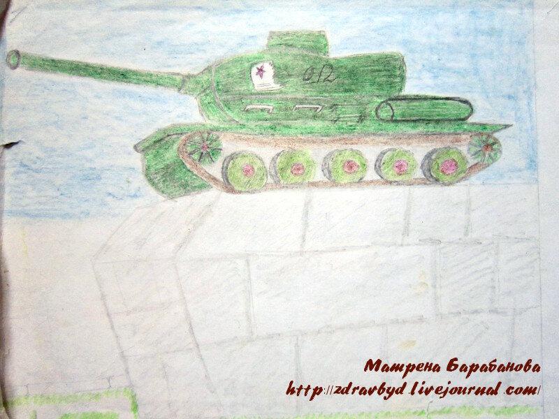 танк рисунок
