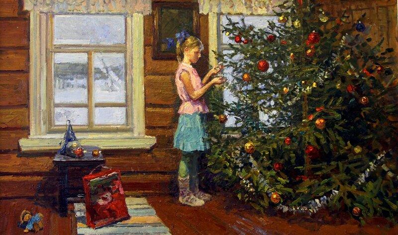 """Рыбакова Ирина """"Новогодняя ёлка"""", 2011"""