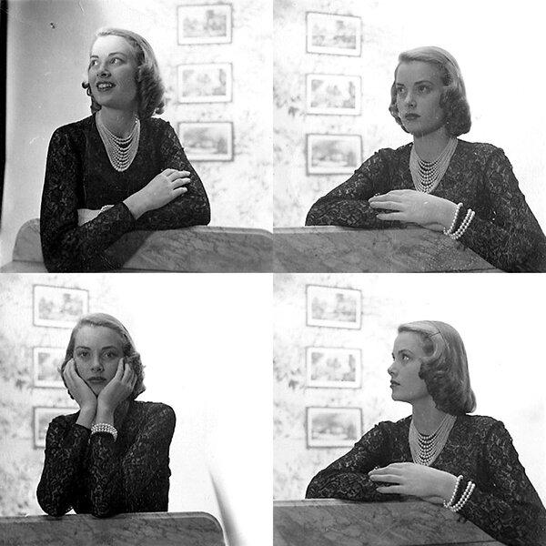 Грейс Келли в модельном агенстве (фото №3)