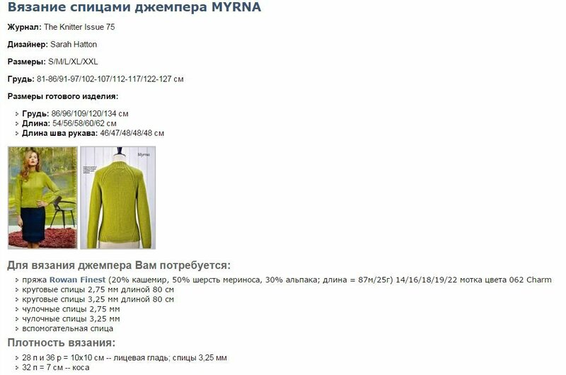 Джемпер myrna