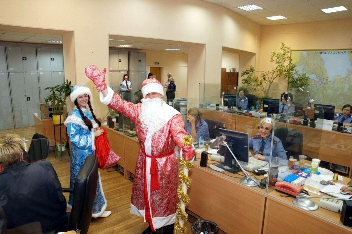 Дед Мороз в полицейском участке