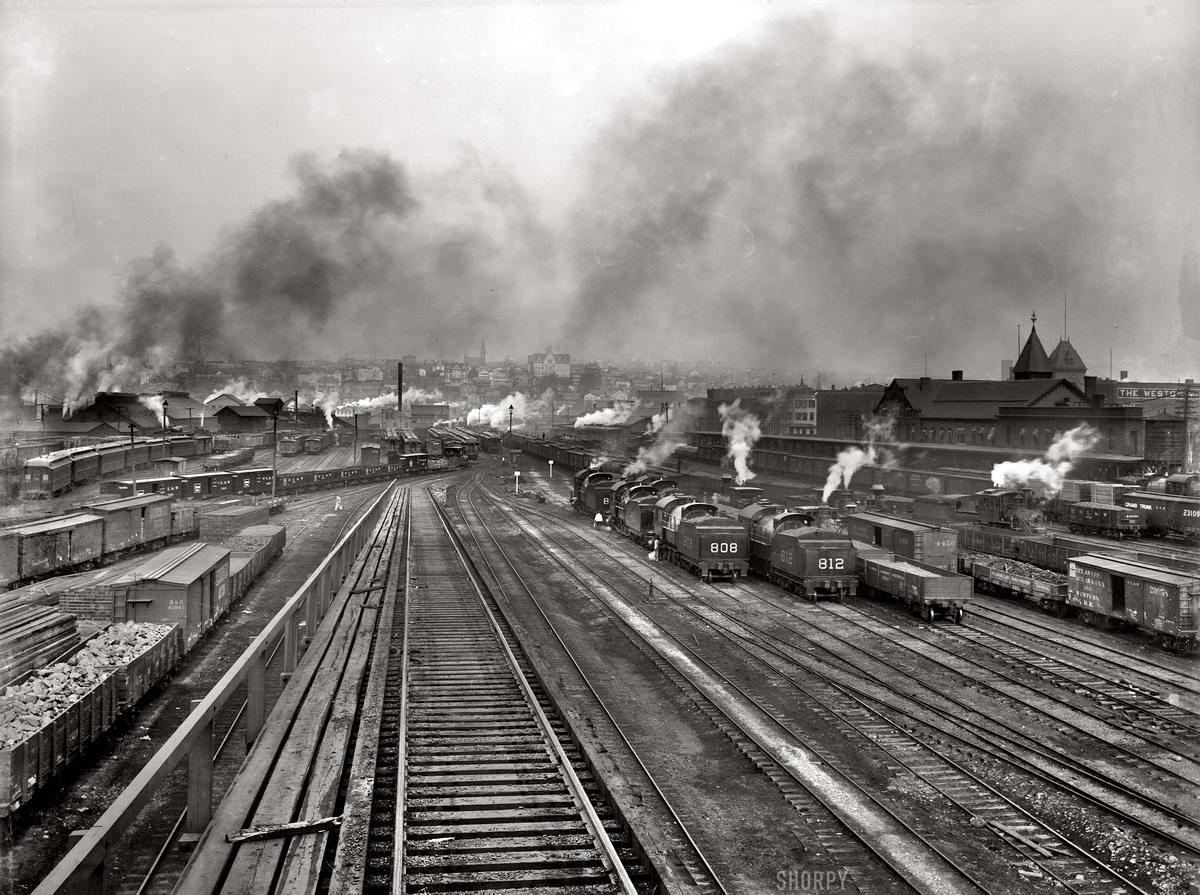 Железные дороги конца 19-го - начала 20-го века на снимках американских фотографов (31)