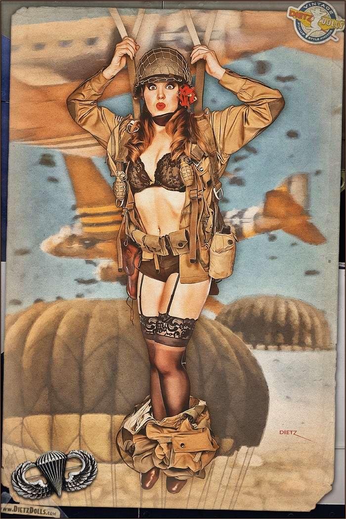 Армейский pin-up в стиле 1940-х годов от американского художника Britt Dietz (8)