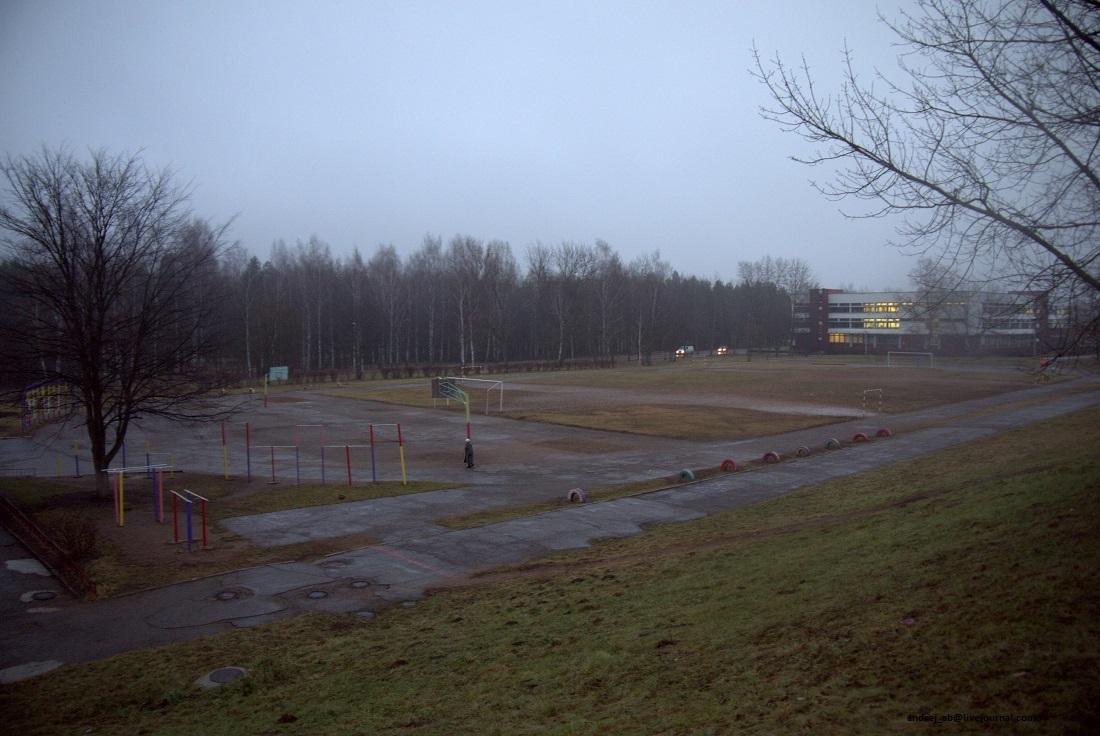 Футбольное поле рядом со стадионом Атлант в Новополоцке.