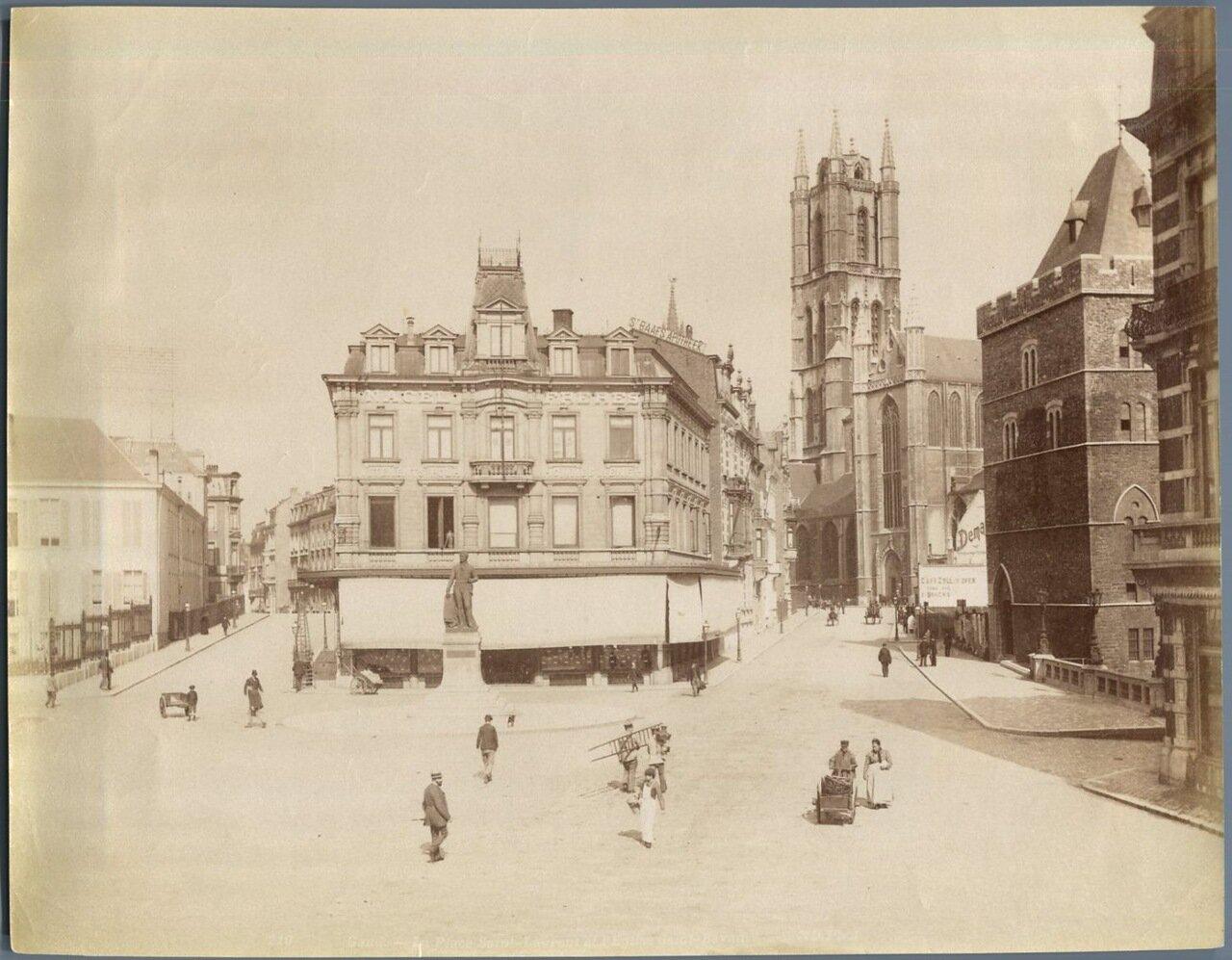 Гент. Площадь Сен Лоран и Собор Св. Бавона