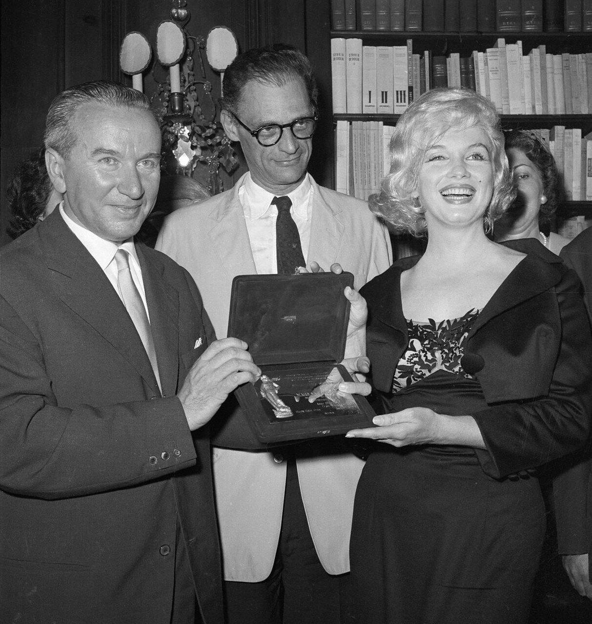 Marilyn Monroe Receiving Awards