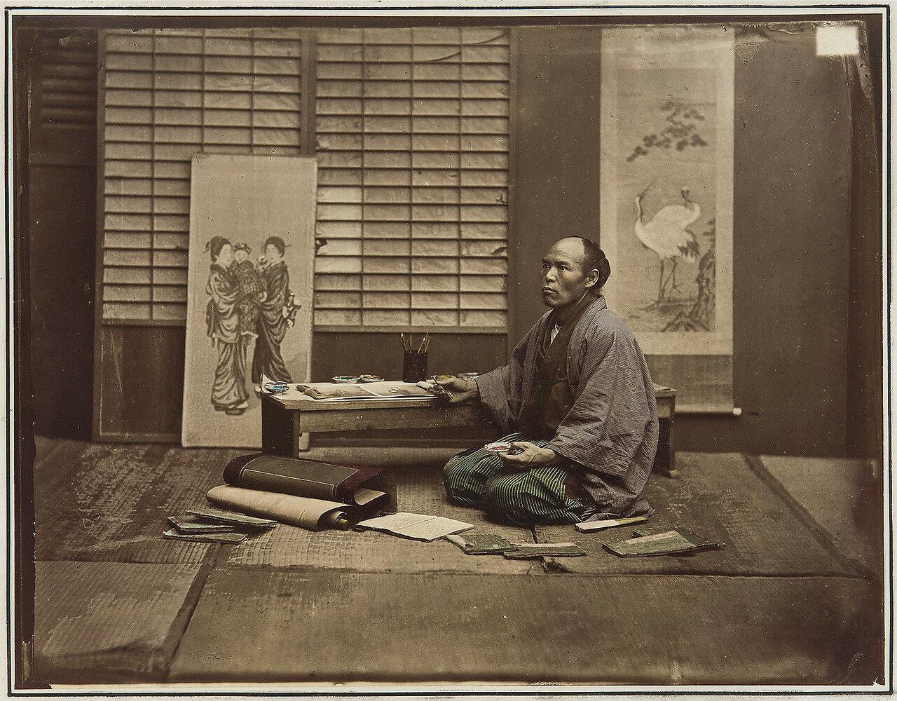Один из колористов фотографа. 1875