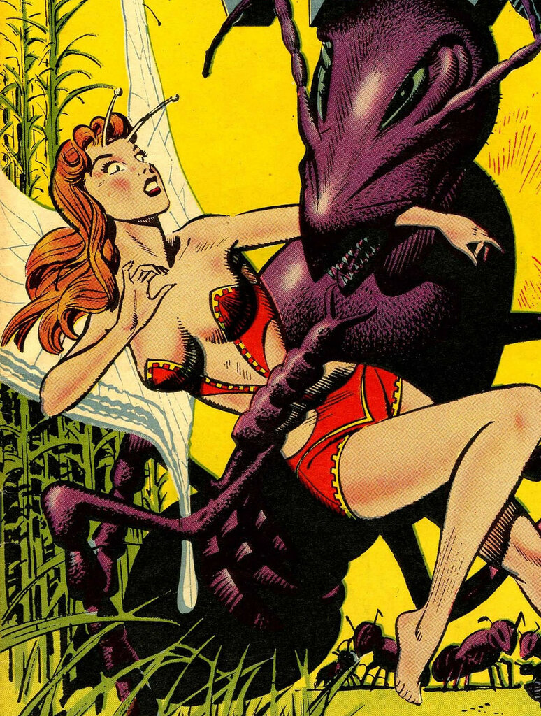 Cover from Strange Planets' 1964 reprint of An Earth Man on Venus, a one-off 1951 comic by Wally Wood.png