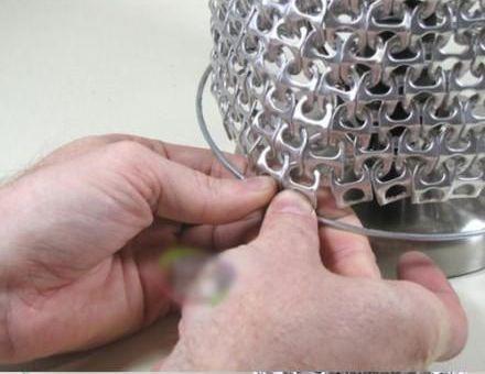 инструкция как собрать из stay-on tab абажур для лампы