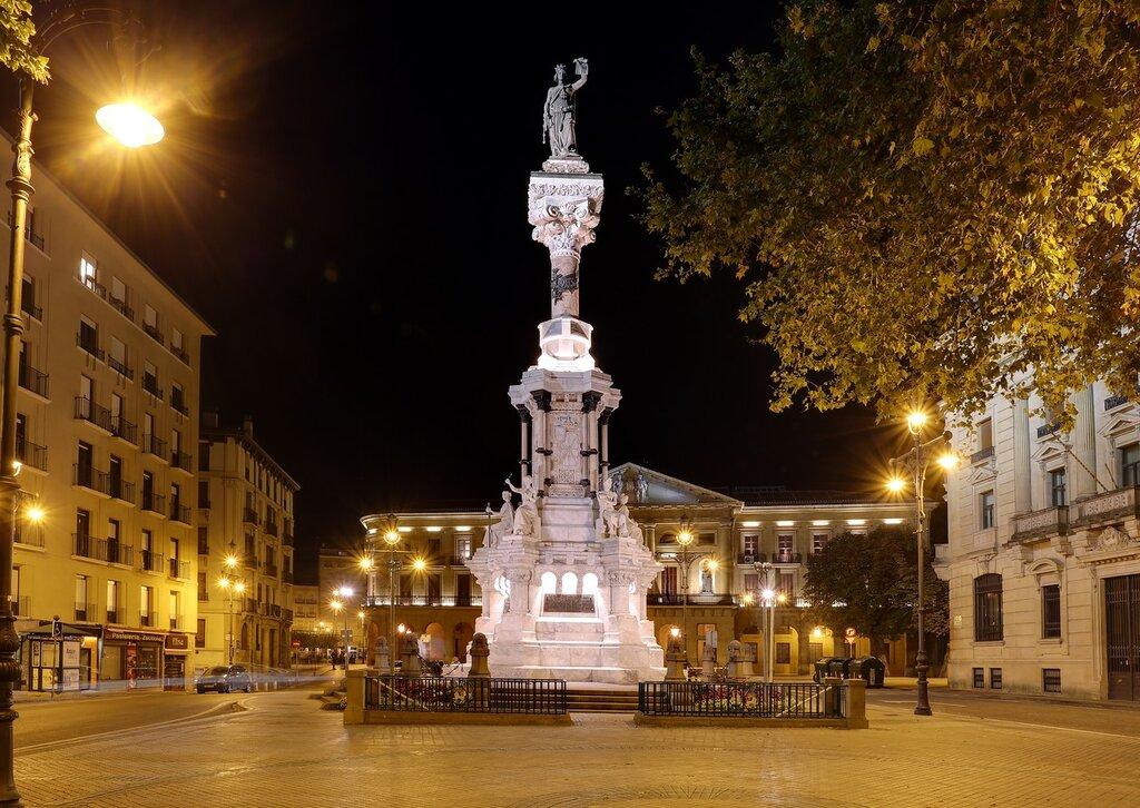 Памплона. Аллея Сарасате (Paseo de Sarasate, Pamplona).