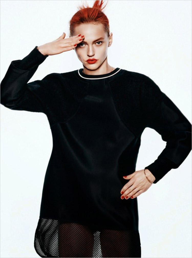 Саша Пивоварова в журнале Vogue Paris (15 фото)