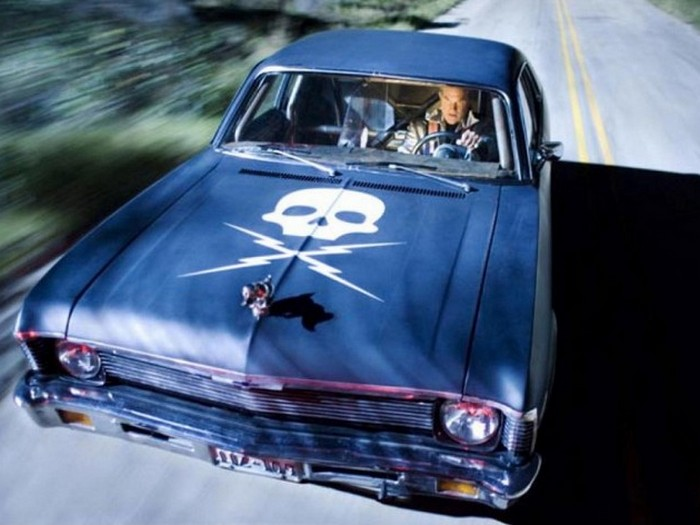 Автомобиль главного злодея из фильма «Доказательство смерти» — это не что иное, как Chevy Nova