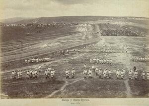 Лагерът на 3-та Гвардейска пехотна дивизия край Яръм-Бургас (днешен Кумбургас, Турция), юли 1878 г.
