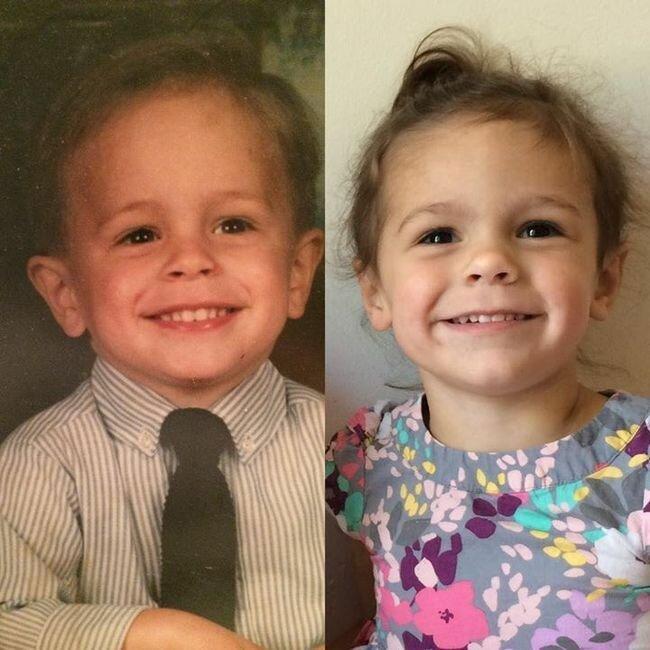 необычное - Как природа клонирует людей: 25 фотографий родителей и их детей в том же возрасте