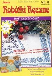 Журнал Diana robotki reczne №6 1993. Haft Krzyzykowy
