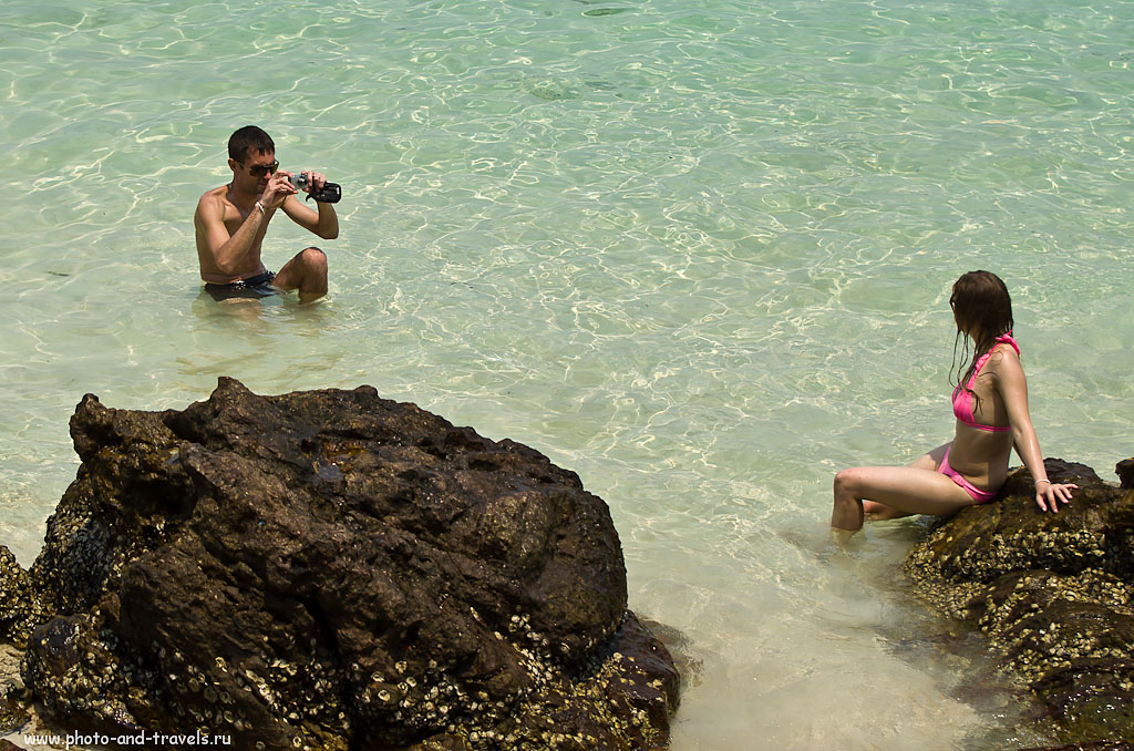 14. Фотосессия на пляже Таваен (Tawaen beach) на острове Ко Лан в Таиланде. Отзывы туристов об отдыхе в Паттайе. Как добраться на паром у причала Бали Хай. AF-S VR Zoom-Nikkor 70-300mm f/4.5-5.6G IF-ED, 1/1250 сек, режим съемки А, f 4.5, ФР 70 мм, 100