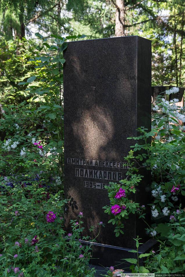 Могила Д. А. Поликарпова на Новодевичьем кладбище