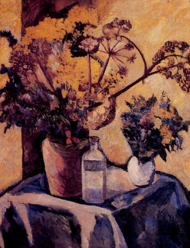 Советский музей 1988 - 3   009 Гончарова Цветы на желтом фоне