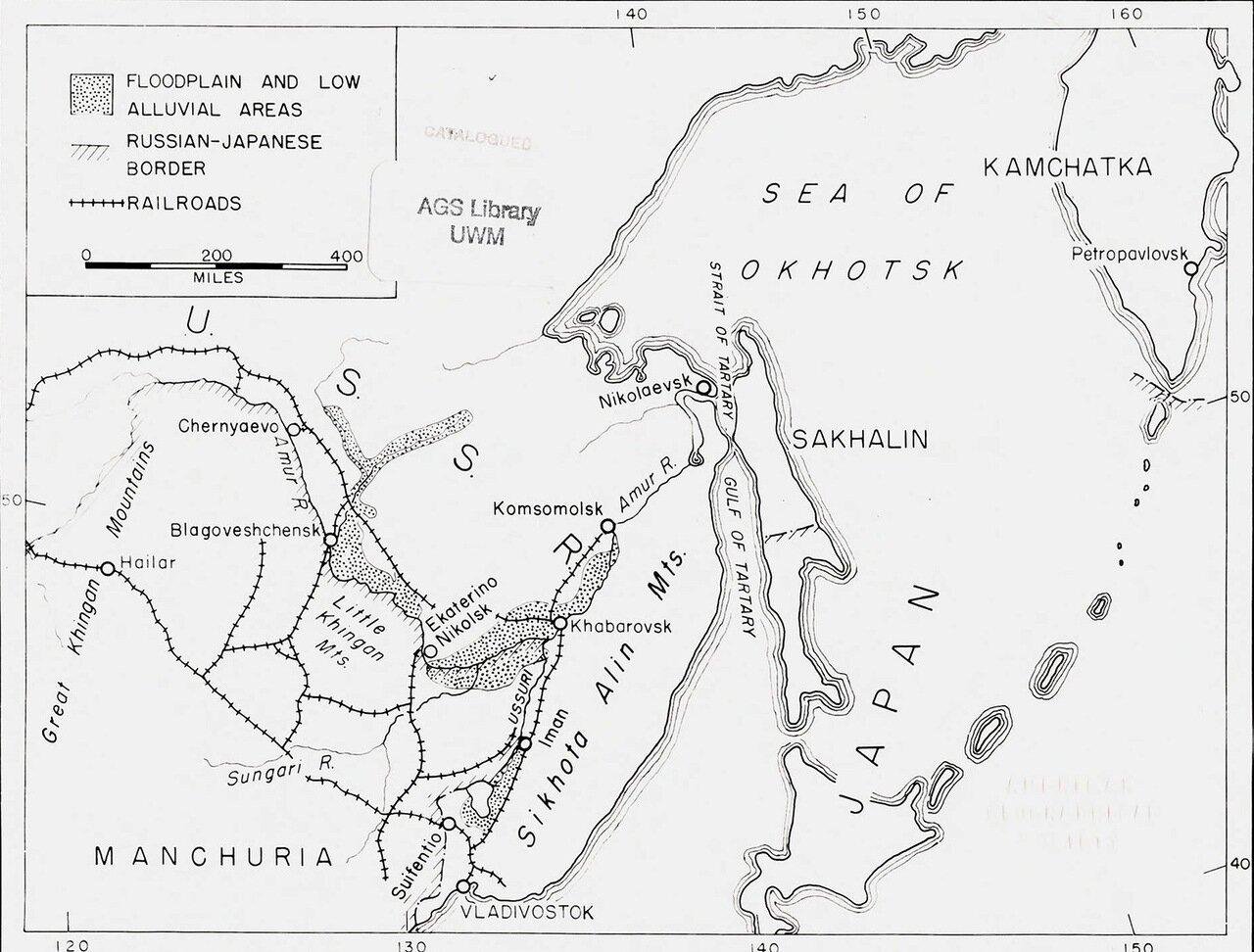 1942. Карта Дальнего Востока