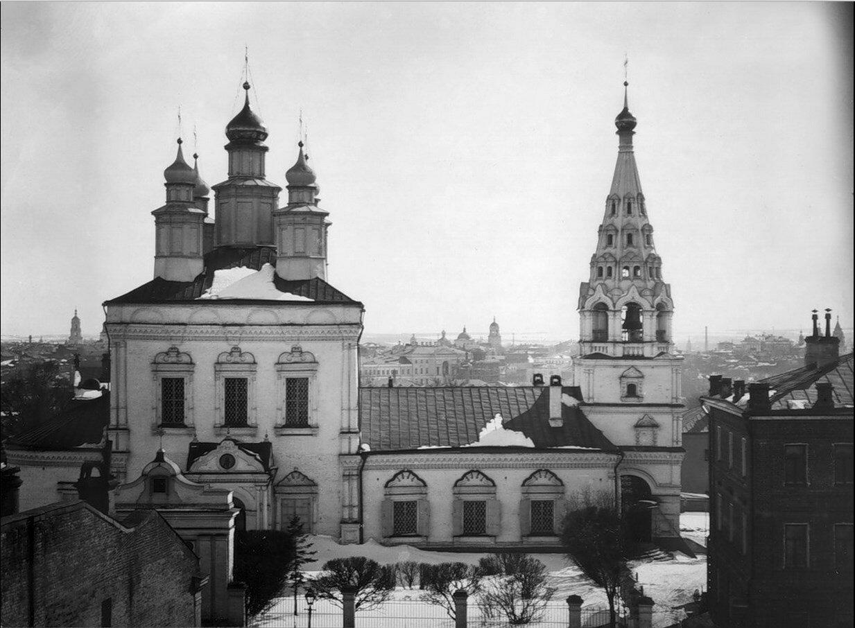 541. Панорама с храмом Николы в Воробине. 24 марта 1899